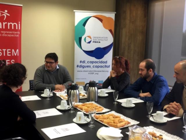 Visita eurodiputat Francesc Gambús a l'ODF i el COCARMI