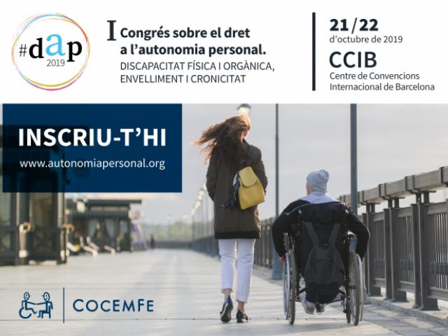 Imatge del registre d'inscripció per assistir al I Congrés sobre el dret a l'autonomia personal que se celebrarà en Barcelona els dies 21 i 22 d'octubre