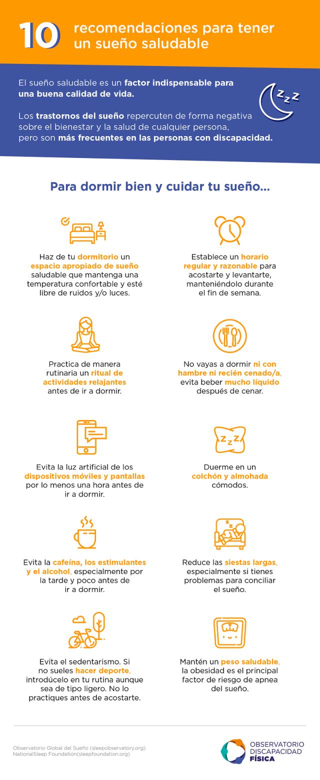 10 recomendaciones para tener un sueño saludable