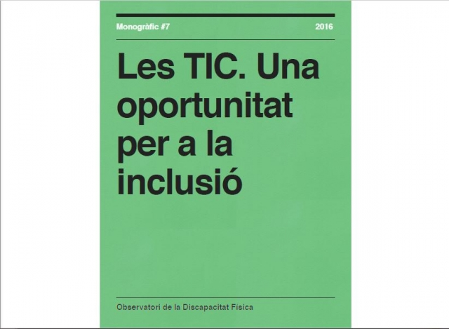 Les TIC. Una oportunitat per a la inclusió